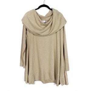 Soft Surroundings Large Camel Tan Shawl Tunic Top